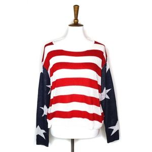American flag USA sweater, 4th of July, size M